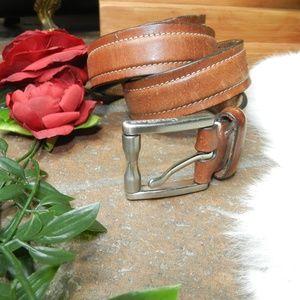 Cole Haan mens cognac brown tan Dress Belt 90/38
